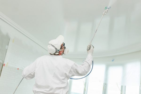 popcorn-ceiling-spraying